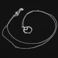施华洛世奇 CHARMED 双环密镶水晶项链 973772