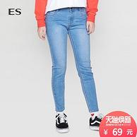 德国 Etam 艾格 女士 修身小脚 牛仔裤