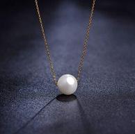 alivinee 18K金天然珍珠吊坠项链
