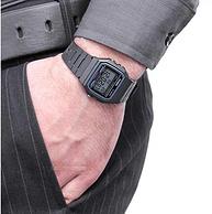 仅限黑色,Casio 卡西欧 F-91W-1YER中性手表