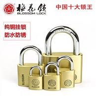 中国十大锁王!梅花锁 纯铜挂锁 20mm款