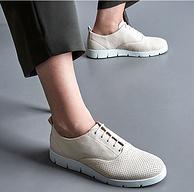 千元大差价!18新款,ECCO爱步 贝拉系列 女士轻盈系带厚底板鞋