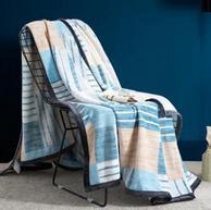 OEKO-TEX认证!维密合作商出品!HOMF 红磨坊 100x102cm 法兰绒毛毯