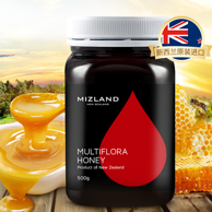 热销25万瓶!新西兰 Mizland 蜜滋兰 百花蜂蜜500g