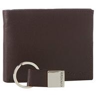 Calvin Klein Bookfold 男款真皮錢包鑰匙扣套裝