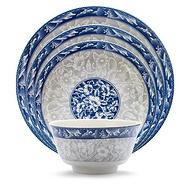 中国古风 景德镇青花陶瓷盘 7英寸x2只