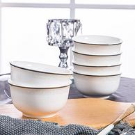 景德镇瓷器 中式简约风格 骨瓷碗套装 6件套