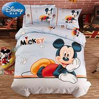 Disney 迪士尼 儿童床上用品磨毛三/四件套 1.0~1.8米 男女童多款