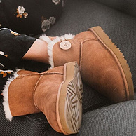 23日0点! UGG australia Mini Bailey Button II 女款雪地靴