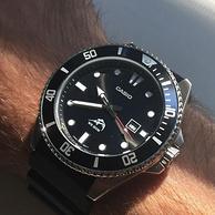 Casio卡西歐  男士黑色潛水手表 MDV106-1A