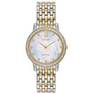 CITIZEN 西铁城 Silhouette Crystal EX1484-65D 女士光动能腕表