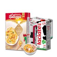 2件!波兰 兰雀 全脂纯牛奶1L*12盒+泰国 家乐士 玉米片 500g 组合装