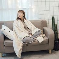 美亚销量第一电热毯!绿萌 可水洗法兰绒电热披肩毯 三色可选