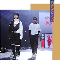 """LI-NING李寧  紐約時裝周走秀 """"中國李寧"""" Box Logo 男士連帽運動衛衣"""