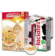 手慢无!兰雀牛奶全脂3.2%fat纯牛奶1L*12*3件+家乐氏谷维滋营养谷物早餐310g*3件