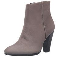 限37碼,ECCO愛步 型塑 女士真皮高跟短靴