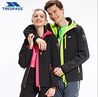 专柜款,英国 Trespass 趣越 情侣款户外软壳衣 冲锋衣  尺码不全