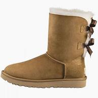 23日0点:UGG australia W Bailey Bow II 双蝴蝶结女士雪地靴
