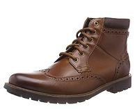 2.3倍差價!Clarks 男士 Curington Rise Chelsea 棕色8.5UK靴子 372.02元包郵包稅(天貓類似款849元)
