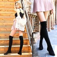 显长腿+显瘦!Pinkyrose 2018秋冬新款 加绒女士长靴