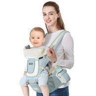 抱娃神器!布兜妈妈 前抱式多功能婴儿背带腰凳