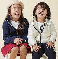 日本超高人气童装品牌!petit main 儿童短毛绒纯色外套 三色