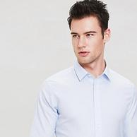 免燙專利+吸濕排汗專利+大牌同款長絨棉!諾貝奧 男士商務襯衣
