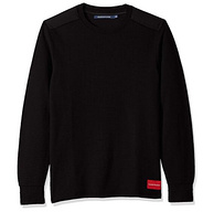 库存浅!Calvin Klein Waffle 男士长袖T恤