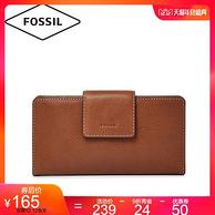 12日特价:杨紫代言!FOSSIL 化石 EMMA系列 女士牛皮钱包