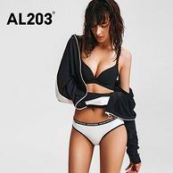 4.9分!3条装 AL203 女士低腰纯色内裤