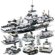 白菜价、472颗粒!咔噜噜 武装联合战舰 积木玩具 手提袋款