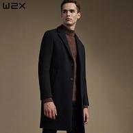 12日0点:w2x 男士 56%羊毛 中长款 毛呢大衣