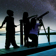 带孩子探索星空!Bresser 宝视德 入门级 天文望远镜 60AZ