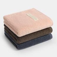 A类品质 新疆长绒棉:100gx3条装 34x74cm  Grace 洁丽雅 纯棉毛巾 多色可选