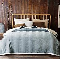 7.2斤!銘都家居 法蘭絨毛毯雙層 灰色 200x230cm