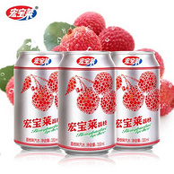 东北第一饮料品牌:12罐x330ml 宏宝莱 荔枝味汽水
