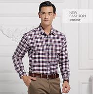 CK制造商,上市公司,加绒加厚:佰杰斯 男士100%纯棉磨毛衬衫