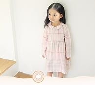 A类棉,内搭小内裤:网易严选  格纹棉质褶皱娃娃裙连衣裙
