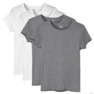 美国销量第一内衣品牌!Jockey 男士 纯棉短袖 T恤 4件装