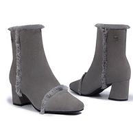 牛反绒+羊皮毛一体!网易考拉 D&K Sheepskin UGG DK336 女士短靴