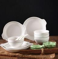 一家四口之选,顺祥 柯罗 20头陶瓷餐具