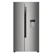 变频风冷+外置取水:海尔525L 对开门冰箱  bcd-525wdvs