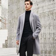 100%纯羊毛,比菲力 男士 双面呢大衣