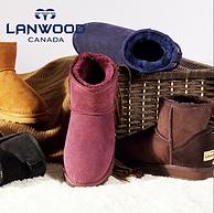 降20元!澳洲羊皮毛一体:Lanwood 女款内增高雪地靴