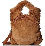 手感超好,Foley+CorinnaHyggeTower 棕褐色人造皮草 手提包