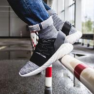 11日0點:adidas 阿迪達斯 Tubular Doom PK 灰白雪花襪套高幫跑鞋