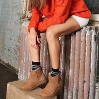 防水防污、皮毛一體!UGG Classic Mini II系列 女士防水防污羊皮短筒雪地靴