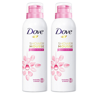 限prime会员:Dove 多芬 玫瑰菁油沐浴慕斯200mlx2瓶x2件