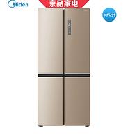 今晚0点:Midea 美的 530L 十字对开门冰箱 BCD-530WTPZM(E)