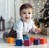 美国 B.Toys 比乐 捏捏乐 数字浮雕软积木玩具